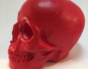 Human Skull - Red