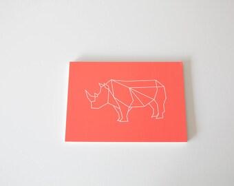 Rhinoceros-Graphics animals Art print 13 x 18