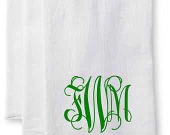 Monogram or Initial/Last Name Kitchen Flour Sack Towel-Name-Personalized