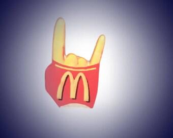 McDonald's Rock On Lapel Pin