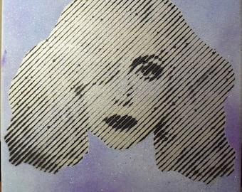 Lady Gaga Halftone Painting (SILVER)