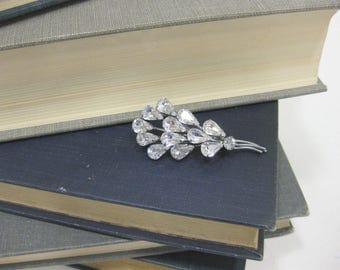 Austrian Crystal Silver Toned Balloon Brooch