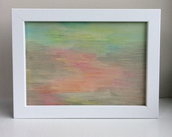September // Abstract Mixed Media Painting 5x7 inches