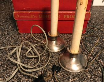 Vintage Noma Christmas Lights Candle Style