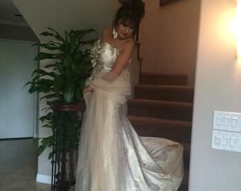White Creamy Elegant Dress