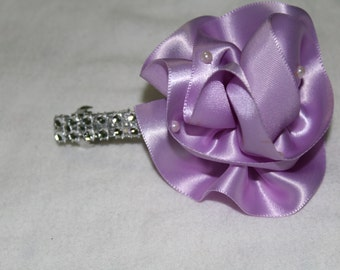 large lilac rose with pearls