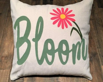 """Bloom Handmade Envelope Pillow Cover, 18"""" x 18"""" Spring Pillow Cover Only"""