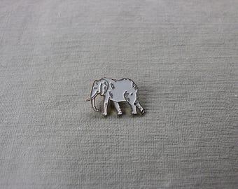 Enamel Elephant Pin (gold or black trim)