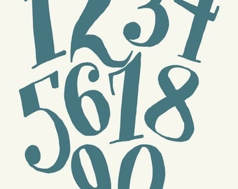 Playful Numbers Art Print