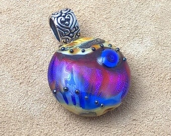 Lampwork Pendant with Sterling Silver Bail