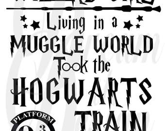 Harry Potter Quote Design for Silhouette Studio, Cut Files, Clip Art, INCLUDES SVG FILE