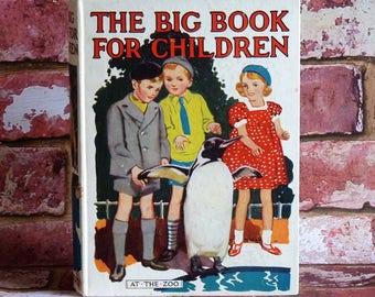 Children's Book - The Big Book for Children - At The Zoo - Mrs Herbert Strang