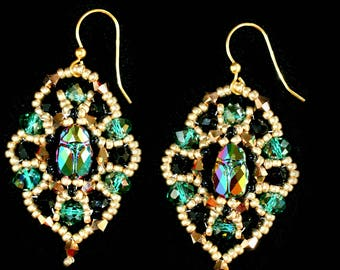 Ramses garden - handmade earrings
