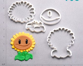 Sunflower Plants Vs Zombies Fondant Cutter
