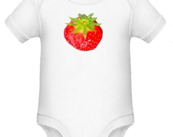 Baby body with strawberry