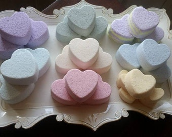 Heart shaped bath bombs 3 for 10 dollars