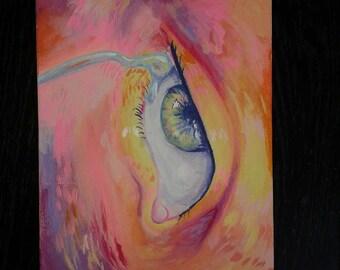 Starry Eyed - Original 5x7 Acrylic Painting