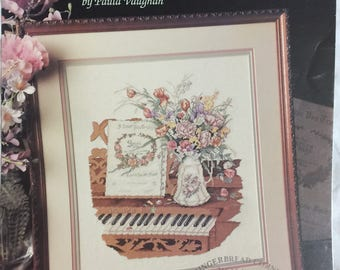 Love Songs by Paula Vaughan, from Leisure Arts leaflet 679, Cross Stitch