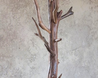 Driftwood coat rack, Natural coat rack, Wooden coat rack, Free coat hanger, Free stand coat rack, Stand coat rack, Stand coat hanger
