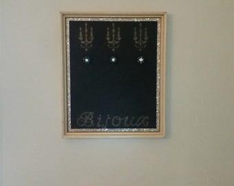 Glam Glitter Blackboard Chandelier Jewelry Hanger