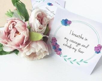 Birth Affirmations-Natural birth-Positive Birth-Empowered Birth-blessingway gift-babyshower gift