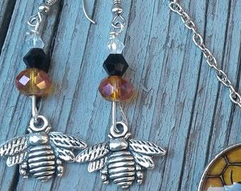 Honey Bee Earrings (earrings only)
