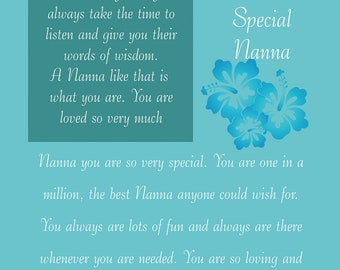 Nanna Birthday Card with removable laminate