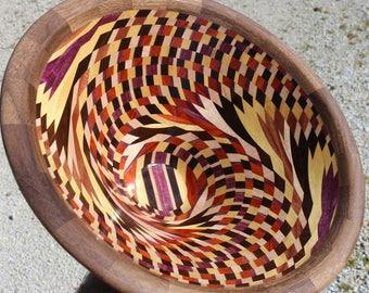 wooden art bowl