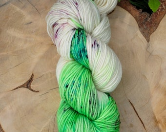 Moraine, hand painted sock yarn, merino superwash