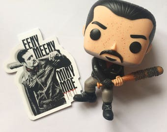The Walking Dead bookmark / Negan bookmark / Magnetic bookmark / Lucille bookmark / Bookish / Book worm / TWD