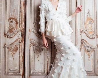 Nina Rose Bridal Delphyne Wedding Dress Sample Size 6/8