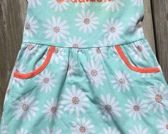 Toddler Girls Monogrammed Dress / Girl's Summer Dress