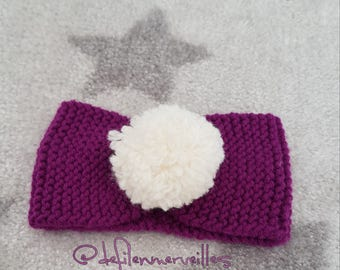 Knitted handmade baby headband 6/12 months