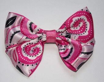 Pink Swirls Boutique Hair Bow