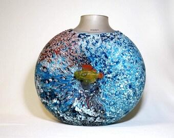 Kosta Boda Rare very Large Reef Collection Vase
