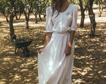 Modest wedding dress, Modest bridal dress, Modest bridal gown, 2 parts wedding dress, Boho wedding gown, Camellia blossom shirt