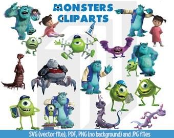Clipart monster | Etsy | {Französische küche clipart 66}