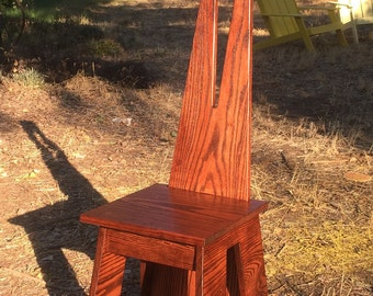Reproduction Limbert Arts & Crafts White Oak no. 81 Hall Chair