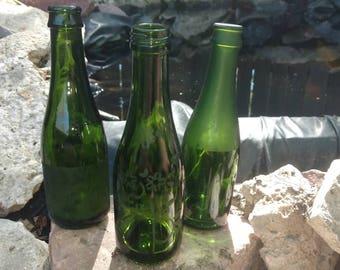 Upcycled mini wine bottles
