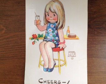 Vintage Mabel lucie attwell postcard early 1980s