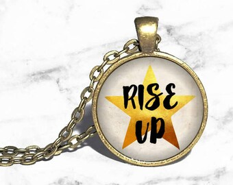 Alexander Hamilton, Rise Up, Hamilton Musical Necklace, Musical Theatre, Broadway Jewlery, Necklace Keychain, Bracelet