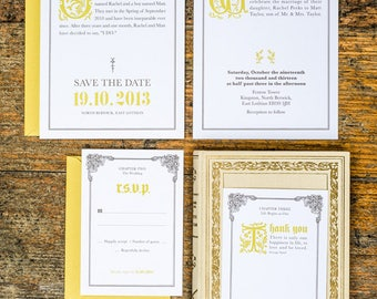 Fairy Tale Once Upon a Time Wedding Invitation Set Printable Set of 4