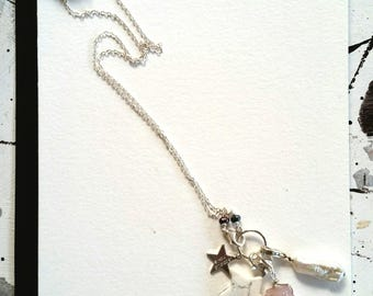 Charm Necklace Sterling Silver