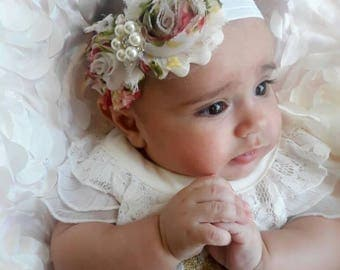 Shabby Chic Vintage Baby Headband / Pick Size and Material