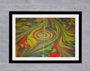 Artist Painting, Water Marbling, Ebru, Abstract Art