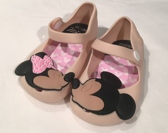 FAUX Minnie Mickey kissing Mini Sandals Toddler Shoes Remake