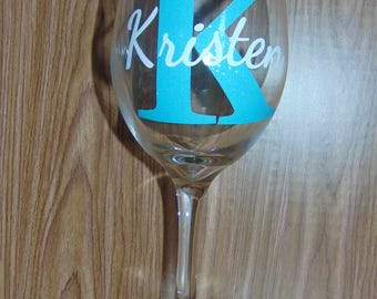 Personalized Mothers Day Wine Glass