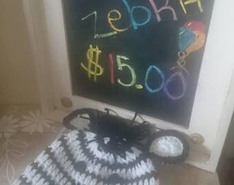 Hand Crochet Zebra Hat