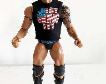 NOX-R-V2: FIGLot 1/12 Scale Sleeveless Shirt for Mattel Elite the Rock Figure - V2
