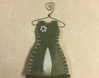 Organic Lavender Filled Sachet Dress, Green